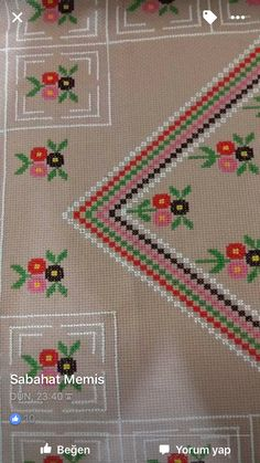 Flor Cross Stitch Art, Cross Stitch Borders, Hand Embroidery, Embroidery Designs, Bordados E Cia, Bargello, Needlepoint, Needlework, Diy And Crafts