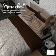 #Marrakech from #BoutiqueLiving is a vibrant collection of designs which are inspired from architecture! #Elegant #Design #Bedding #Luxury #Decor #Architecture #HomeDecor #Bedsheets