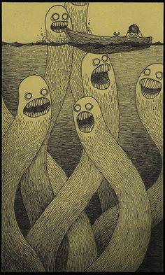 monserdrawings   Post-It Monster Drawings