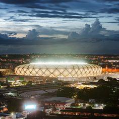 Manaus stadium by GMP Arkitechten hosts four World Cup football matches