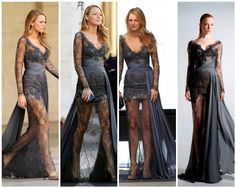 So dramatically gorgeous. loved this Zuhair Murad dress on Blake Lively. the lace, beading, and extra draping on the side is unique but elegant.