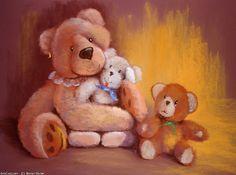 Artwork >> Breton Michel >> calin Michel, Artworks, Teddy Bear, Toys, Children, Painting, Animals, Inspiration, Bears