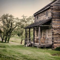 Gallery Wrap Canvas - Log Cabin - Square Format - Choose a size Old Cabins, Log Cabin Homes, Cabins And Cottages, Rustic Cabins, Small Cabins, Rustic Homes, Abandoned Houses, Old Houses, Abandoned Places