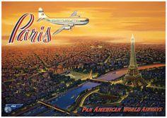 Über Paris Kunstdrucke von Kerne Erickson bei AllPosters.de