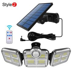 Solar Lamp, Low Lights, Wide Angle, White Light, Solar Panels, Light Fixtures, Indoor Outdoor, Abs