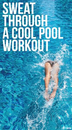 Did you know swimming is GREAT cardio?! 10 ways to jump in and workout in the pool!