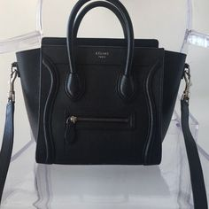 851ec133a54869 Céline Black Drummed Calfskin Cross Body Bag. Get the trendiest Cross Body  Bag of the. Tradesy