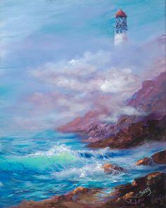 Mystical Kilauea Lighthouse 16x20 Giclee by MysticalKauaibySuzy, $200.00
