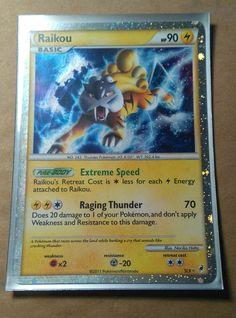 PKMN Rare Pokemon Trading Card MINT Raikou Secret Rare SL9