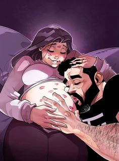 """Yehuda and Maya Devir, a married couple, Israeli comic artists and the creators of the popular web comics """"One of Those Days"""" Cute Couple Comics, Couples Comics, Maya, Baby Tritte, Photo Manga, Image Couple, Worlds Best Dad, She Loves You, Pregnant Couple"""