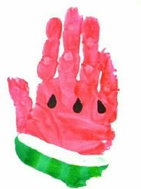 3. Integrated Arts Activities May Watermelon Hand Art Activity