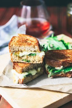 Grilled Brie, Fig Jam, and Dandelion Greens Sandwiches are delicious sandwiches for your next meal. Grilled Brie, Fig Jam, and Dandelion Greens Sandwiches make a unique and tasty meal. National Grilled Cheese Day, Best Grilled Cheese, Grilled Cheese Recipes, Finger Food Appetizers, Finger Foods, Bread Jam, Dandelion Recipes, Fig Jam, Just Eat It