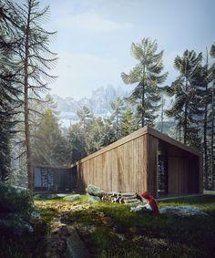 Red Riding Hood Modern House by Sérgio Merêces | 3D