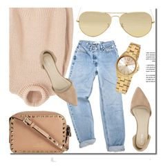 """""""Best Choice"""" by jomashop ❤ liked on Polyvore featuring MANGO, Ray-Ban, Nly Shoes, DKNY, beige and neutral"""