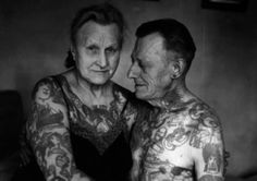 13 Most Awesome Old People With Tattoos (old people with tattoos, old tattoos) - ODDEE
