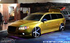 "Volvo V70 Widebody on 22"" by 10.5 Concavo CW-5 Custom build. |"