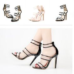 Women Transparent Classics Stiletto Clear High Heels Open Toe Party Pump Sandals