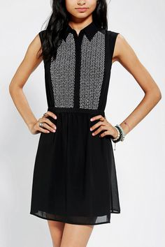 COPE Embroidered Circles Sleeveless Dress #urbanoutfitters