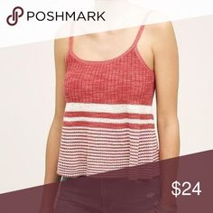 ef84d1312a825 Anthropologie Moth Sweater Tank Red White Striped Anthropologie Moth ribbed  sweater tank. Red   white. More information