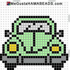 megustahamabeads escarabajo verde