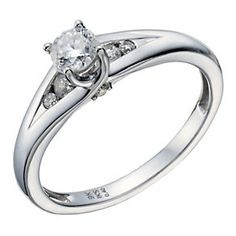 9ct White Gold 2/5 Carat Total Diamond Solitaire Ring