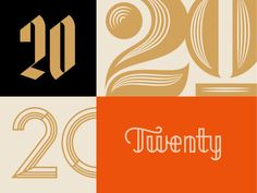 Dribbble - Twenty / 20 by J Fletcher Design