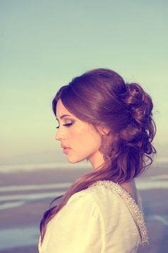 i LOVE this. beautiful, delicate, but not too done.    Jasmine - Lindsey Shaun Photography  from hairandmakeupbysteph.com