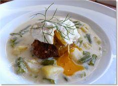 o varení, živote a tak...: Prívarok zo zelenej fazuľky, stratené vajce a fašírka