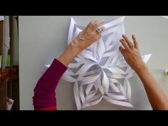 (89) Make a CHRISTMAS SNOWFLAKE in 5 min using kebab shop bags - YouTube