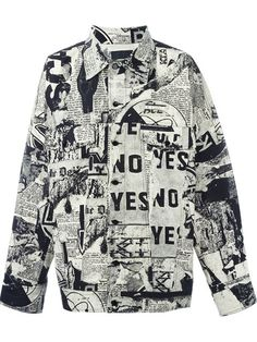 KTZ Newspaper Print Jacket. #ktz #cloth #jacket