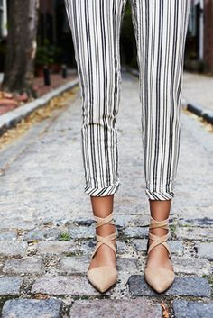 ::loving these Jeffery Campbell + Free People Womens Hyde Wrap Flats! They're very ballet chic right?? Where them to work if you're not feeling heels with a pair of slacks or cropped pants. Perfect for Spring::