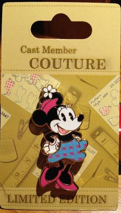 Cast Exclusive - Couture Minnie - Limited Edition 500 All Disney Movies, Disney Fun, Disney Stuff, Disney Magic, Disney Pins Sets, Disney Trading Pins, Disney Clothes, Disney Outfits, Limited Edition Disney Pins