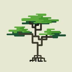Trees by Andrey Bzh, via Behance