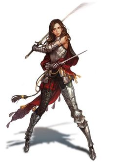 Woah! this is cool! a female knight