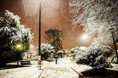 A neve que caiu sobre a cidade de Canoinhas (SC) , Brasil