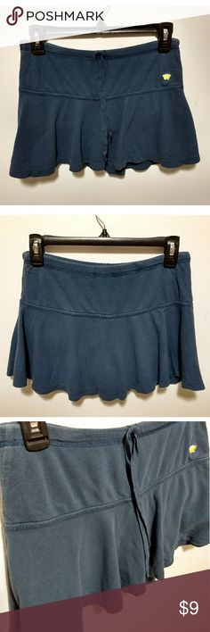 Aeropostale blue tennis skirt / skort Aeropostale blue short skirt. Size XS. Waist = about 13.5 inches, length = 11 to 12 inches. 100% cotton.   Gently used and has slight fading. Otherwise in very good condition.  #pakainin #tennisskirt #blueskirt #blueskort Aeropostale Skirts Mini