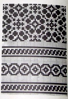 Lapas - Rokdarbu grāmatas un dažādas shēmas - Galerija - Cimdu raksti - draugiem. Fair Isle Knitting Patterns, Knitting Machine Patterns, Knitting Charts, Knitting Stitches, Knitting Designs, Motif Fair Isle, Fair Isle Chart, Crochet Chart, Crochet Patterns