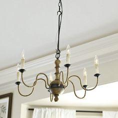 Marisol 6 Light Chandelier | Ballard Designs great way to add extension...