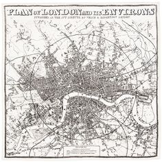 Plan of London and its Environs Handkerchief Product Shot