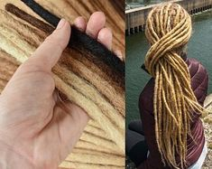 The Dread Shop by TheDreadShop on Etsy Permanent Dreadlock Extensions, Hair Extensions, Dreadlock Hairstyles, Loose Hairstyles, Dread Shampoo, Dread Shop, Bleached Tips, Natural Hair Styles, Long Hair Styles