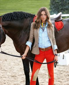 Blue Label Spring 2013:  Vibrant hues and sleek fits provide a fresh take on the iconic equestrian style