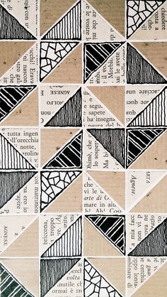 Rebecca Blair collage patterns and drawings in Moleskine 03, #085