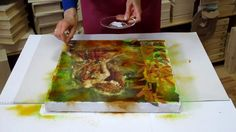 Mixed media / decoupage tutorial for beginners - DIY.  How to make Art M...