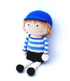Crochet boy doll by tootylou.etsy.com