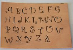 1  6 mm or 1/4 inch Curlz Font Alphabet by metalsupplychick on Etsy, $79.99