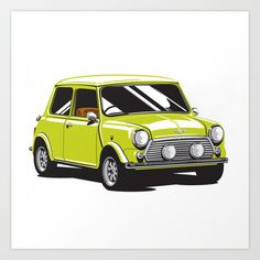 Classic Mini Cooper - a few of these speeding around Bermuda