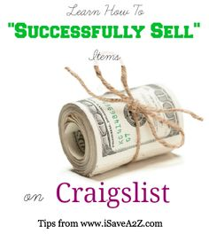 How to successfully sell items on Craigslist
