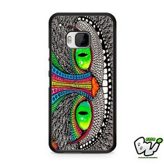 Cheshire Cat Pattern HTC One M9 Case
