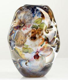 ** Per B Sundberg (Swedish), Orrefors, Fabula Glass Vase.