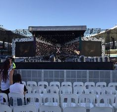 Stage from crowd B•• Samantha just finished and McBusted are next